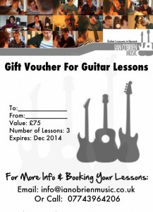 Gift Certifcate for Guitar Lessons